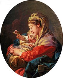 Virgin and Child, c.1765/70 by Boucher | Painting Reproduction
