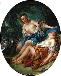 Companions of Diana, 1745 by Boucher | Painting Reproduction