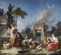 The Fountain of Love | Boucher | Painting Reproduction
