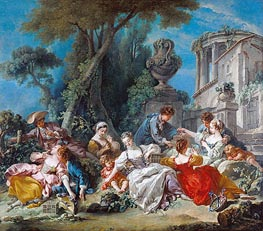The Bird Catchers, 1748 by Boucher | Painting Reproduction