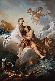 Aurora and Cephalus, undated by Boucher | Painting Reproduction