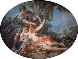 Sylvia Rescued by Aminta, 1755 by Boucher | Painting Reproduction