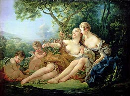 Bacchus and Erigone, 1745 by Boucher | Painting Reproduction