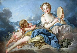 The Muse Terpsichore, undated by Boucher | Painting Reproduction