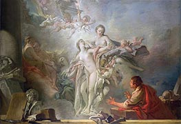 Pygmalion and Galatea, undated by Boucher | Painting Reproduction