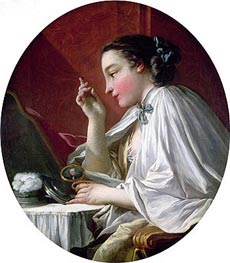 Woman at Her Toilet, undated by Boucher | Painting Reproduction