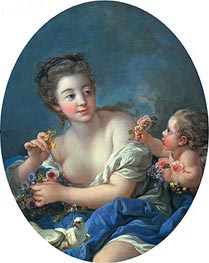 Venus and Cupid, 1769 by Boucher | Painting Reproduction