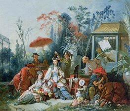 The Chinese Garden, c.1742 by Boucher | Painting Reproduction