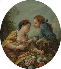 The Bird Nesters, undated by Boucher | Painting Reproduction