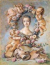 Madame de Pompadour, 1754 von Boucher | Gemälde-Reproduktion