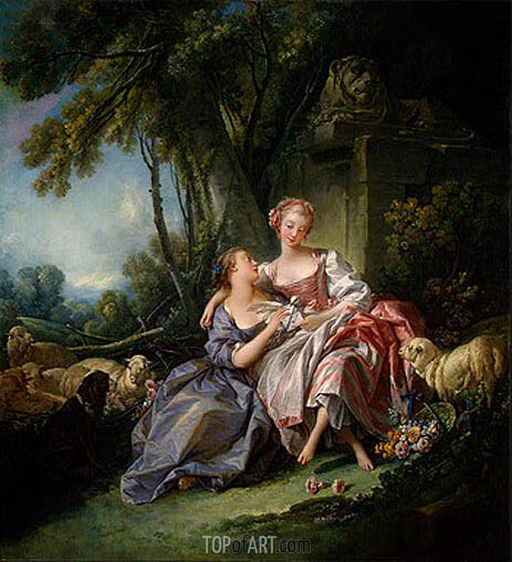 Boucher | The Love Letter, 1750