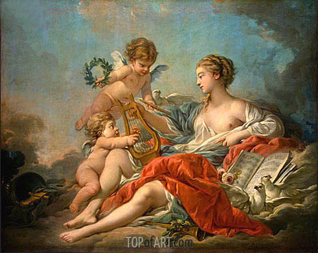 Allegory of Music, 1764 | Boucher | Painting Reproduction