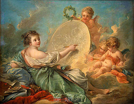 Allegory of Painting, 1765 | Boucher | Painting Reproduction