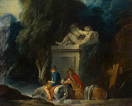 Crossing the Ford, c.1730 | Boucher | Painting Reproduction
