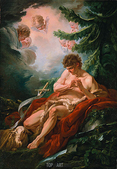 Boucher | Saint John the Baptist, c.1755