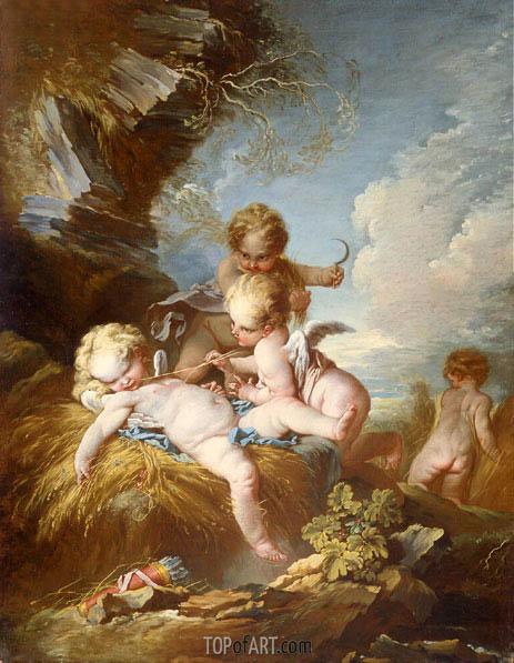 Boucher | The Cherub Harvesters, c.1733/34