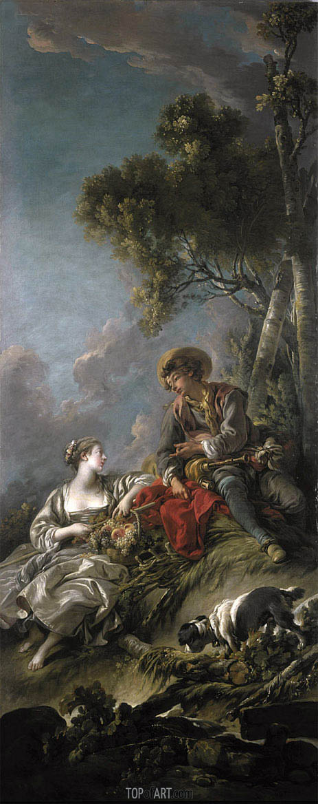 A Pastoral Scene, 1762 | Boucher | Painting Reproduction