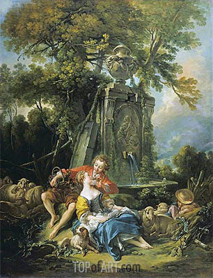 An Autumn Pastoral, 1749 | Boucher | Gemälde Reproduktion