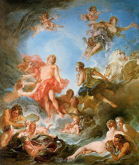 The Rising of the Sun, 1753 | Boucher | Gemälde Reproduktion
