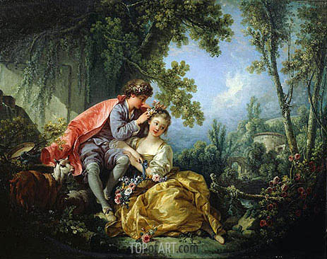 The Four Seasons: Spring, 1755 | Boucher| Painting Reproduction