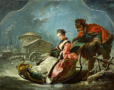 The Four Seasons: Winter, 1755 | Boucher | Painting Reproduction