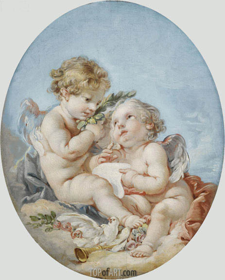 Poetry, undated | Boucher| Painting Reproduction