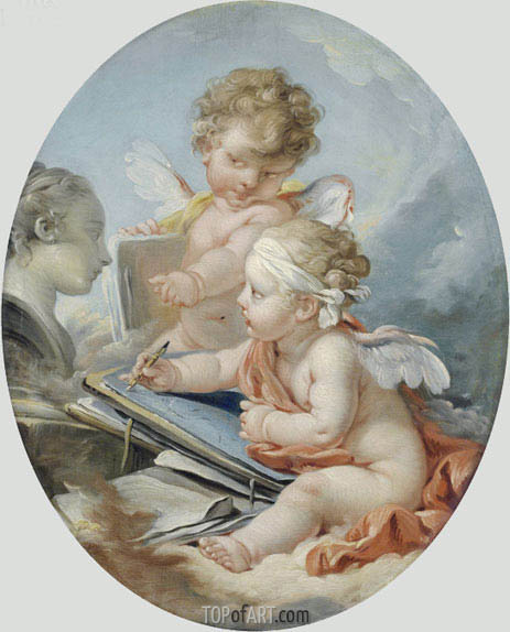 Drawing, undated | Boucher| Painting Reproduction