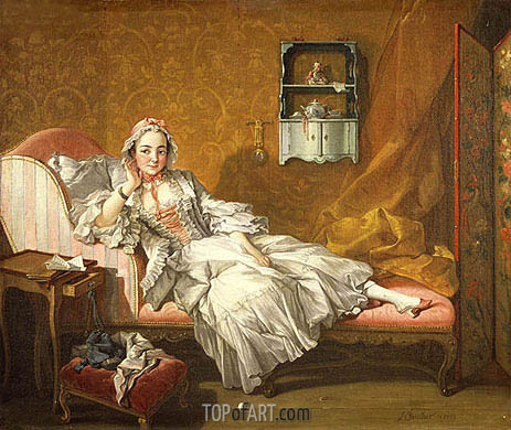 A Lady on Her Day Bed, 1743 | Boucher | Painting Reproduction