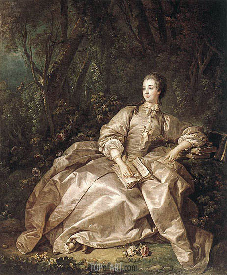 Boucher | Portrait of Madame de Pompadour, 1758