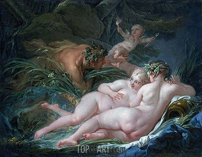 Boucher | Pan and Syrinx, 1759