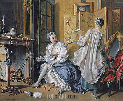 La Toilette, 1742 | Boucher| Painting Reproduction