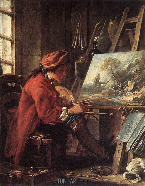 Painter in his Studio, undated | Boucher| Painting Reproduction