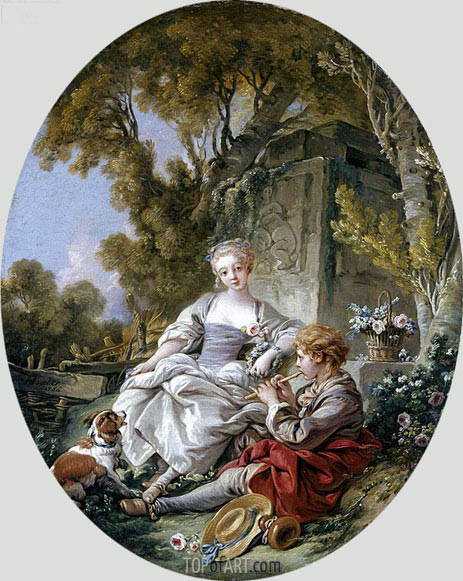 Le Joueur De Flageolet, 1766 | Boucher | Painting Reproduction