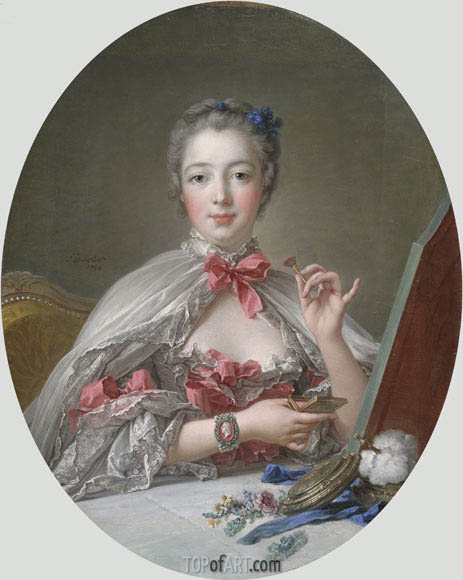 Jeanne-Antoinette Poisson, Marquise de Pompadour, 1758 | Boucher | Painting Reproduction