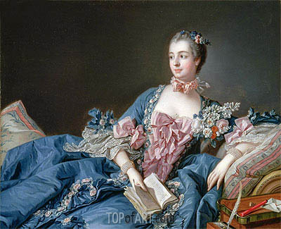 Madame de Pompadour, c.1758/59 | Boucher | Painting Reproduction