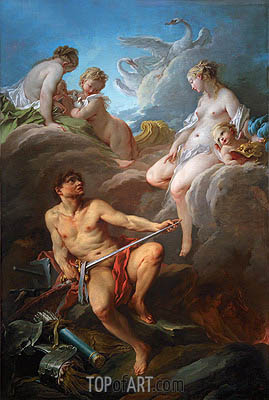 Venus Asking Vulcan for the Armour of Aeneas, 1732 | Boucher| Painting Reproduction