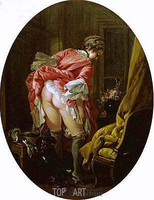 The Raised Skirt, 1742 | Boucher | Painting Reproduction