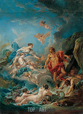 Juno Asking Aeolus to Release the Winds, 1769 | Boucher | Painting Reproduction