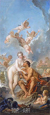 Venus and Vulcan, 1754 | Boucher | Gemälde Reproduktion