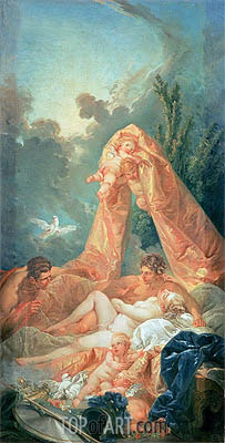 Mars and Venus surprised by Vulcan, c.1754 | Boucher | Painting Reproduction