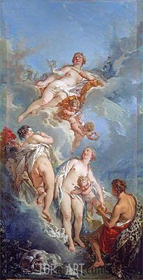 The Judgment of Paris, 1754 | Boucher | Painting Reproduction