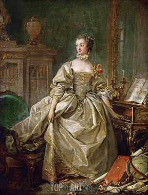 Mme. Pompadour (Jeanne Antoinette Poisson, Marquise de Pompadour), undated | Boucher| Painting Reproduction