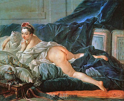 Odalisque, 1745 | Boucher | Painting Reproduction