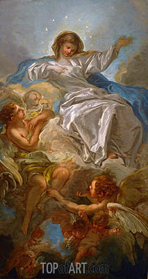 Assumption of the Virgin, undated | Boucher | Painting Reproduction