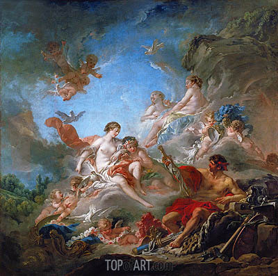 Vulcan Presents to Venus the Armour for Aeneas, 1757 | Boucher| Gemälde Reproduktion