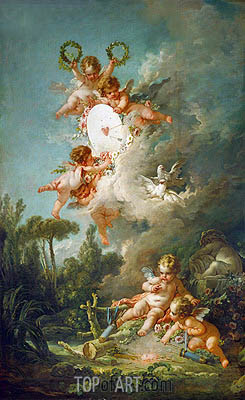 The Target of Love, 1758 | Boucher| Painting Reproduction