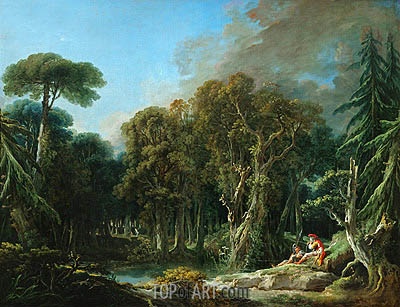 The Wood, 1740 | Boucher | Painting Reproduction