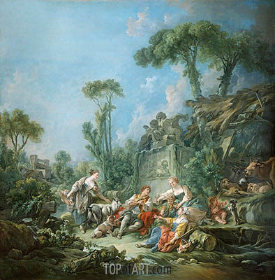 Shepherd's Idyll, 1768 | Boucher | Painting Reproduction