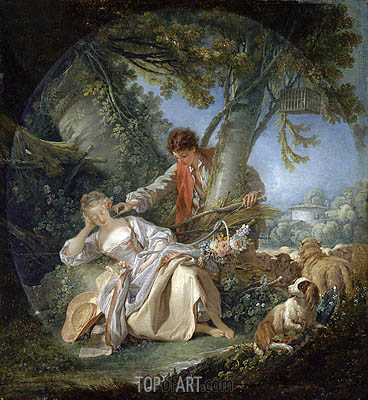 The Interrupted Sleep, 1750 | Boucher| Painting Reproduction