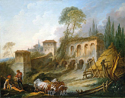 Capriccio View from the Campo Vaccino, 1734 | Boucher | Painting Reproduction